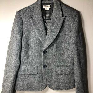 Michael Kors Grey/Taupe Sparkle Tweed Blazer